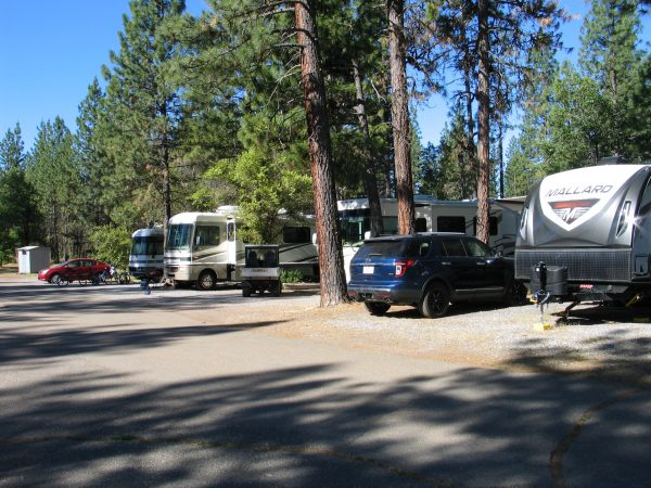 Space #20 Back in RV Space with 30 Amp Hookup